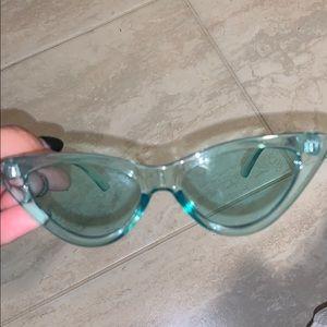 Light Blue Clear Sunglasses